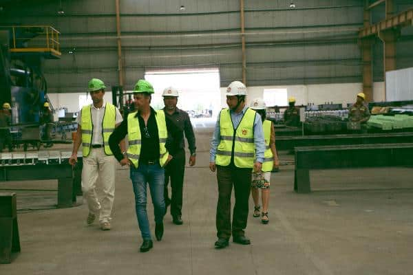 The delegation expressed their impression with the scale of WorldSteel Group factory